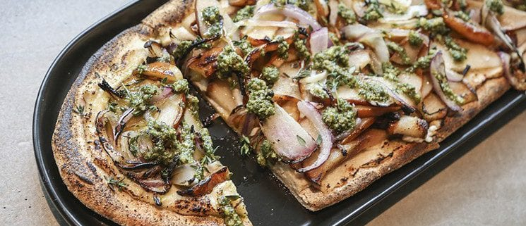 Pear flatbread at GLAM
