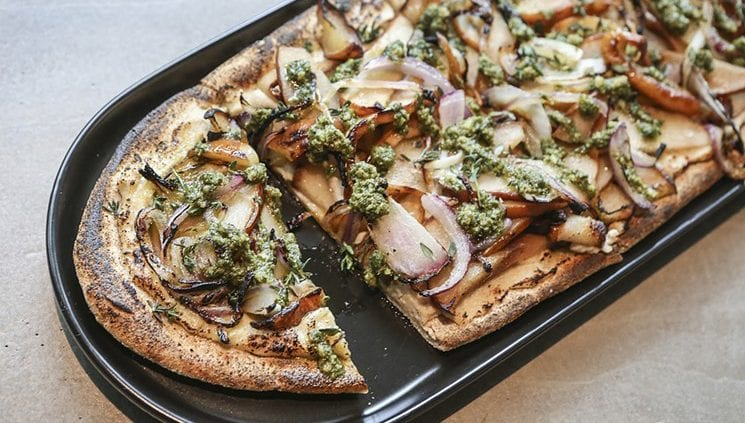 Pear flatbread at GLAM