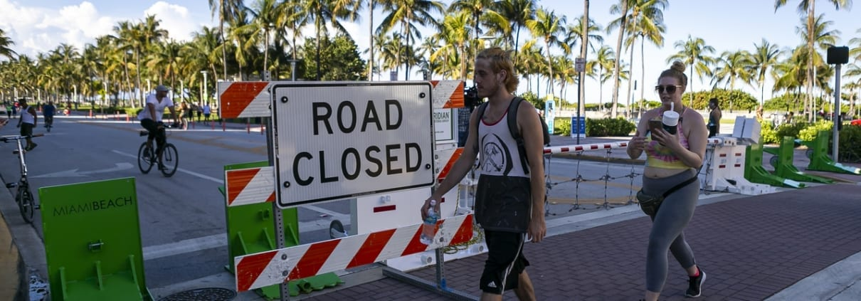 Ocean Drive Closed To Automobiles